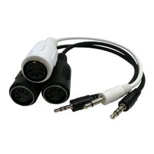 Mini Plug TRS TS a MIDI DIN Adaptador Cables